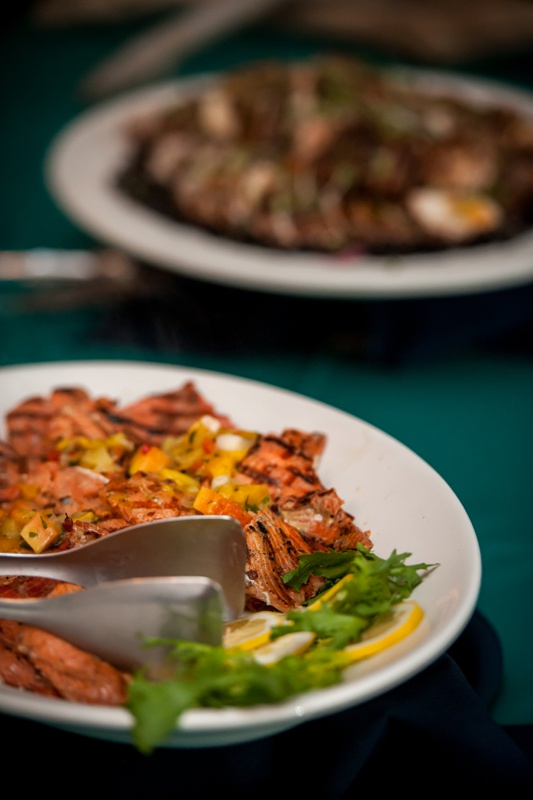 Seared salmon highlight our heart healthy tasting menu.