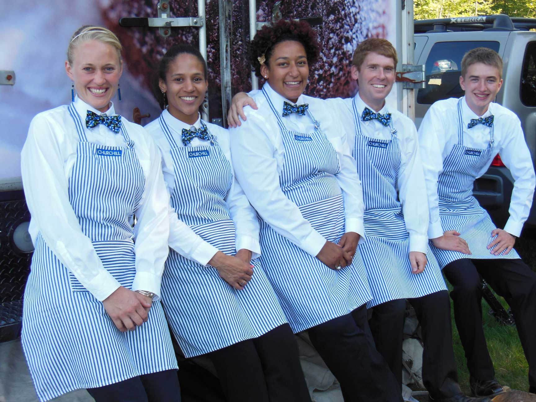The friendly staff of Churchill Events smiles for the camera.
