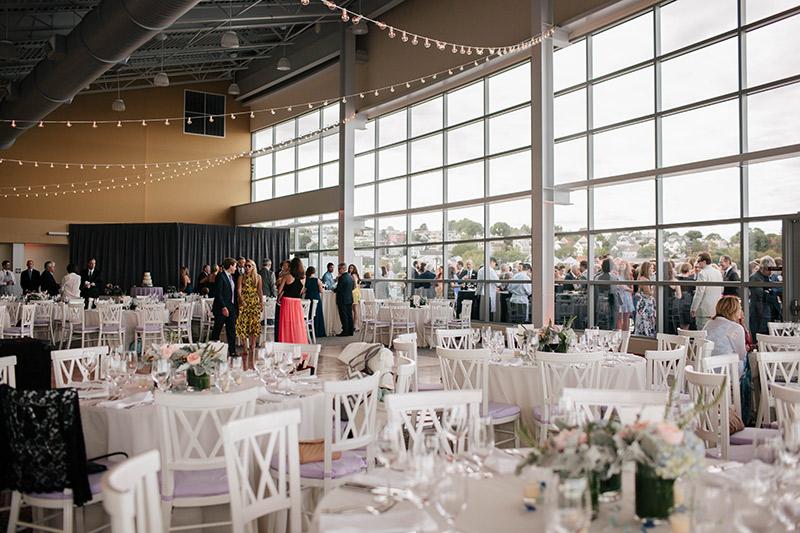Photo interior of Ocean Gateway during a wedding. Photo courtesy of http://larakimmerer.typepad.com/lk_weblog/2016/01/karla-todd-ocean-gateway-wedding.html.